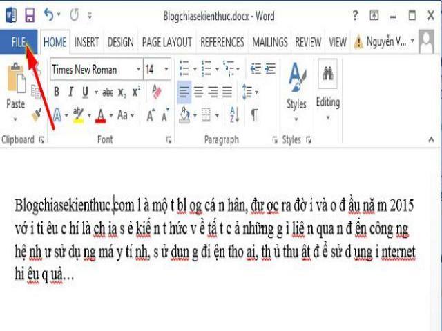 Sửa lỗi khoảng cách giữa các chữ trong Word