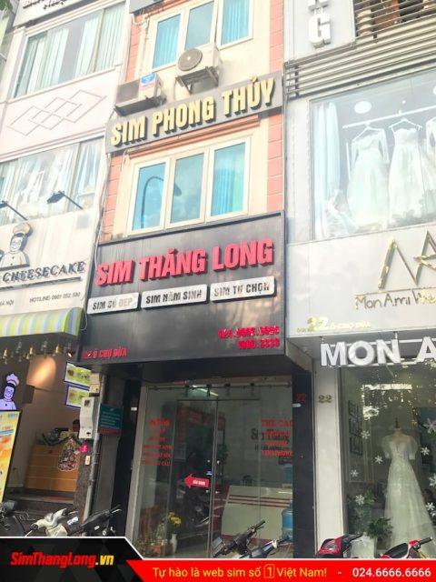 Cửa hàng sim số đẹp Sim Thăng Long tại Hà Nội
